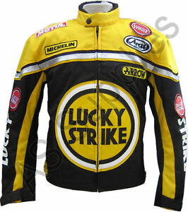 lucky strike cordura textile biker motorcycle jacket black yellow all sizes ebay