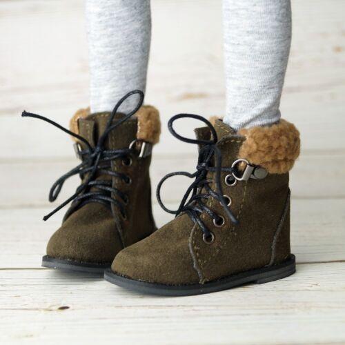 """BJD Short Boots Dark Green Shoes For 1//4 17/"""" 44cm BJD doll AOD MSD DOD DK DZ"""