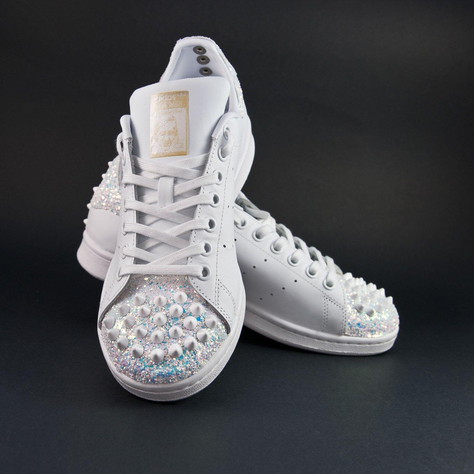 Schuhe Adidas Stan Smith mit Glitzer und Spitze