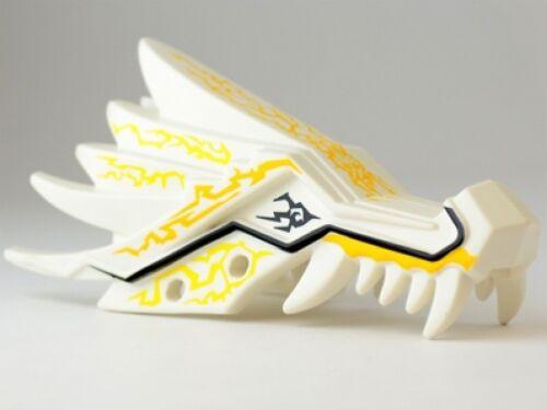 Ninjago Upper Jaw w// Yellow Lightning Spirit Pattern LEGO Dragon Head