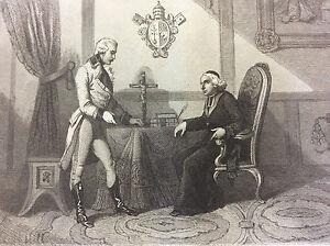 The-General-Cervoni-Somme-the-Pope-Pie-VI-D-039-Abdicate-Print-Gravee-per-Masson
