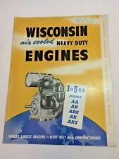 New Listingwisconsin Air Cooled Heavy Duty Engines Manual Parts List Aa Ab Abs Ak Aks Vtg