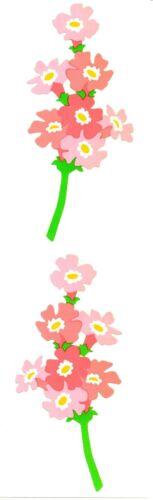 BULK LOT 25 Strips ~ Retired NLA Phlox Flowers Pink Mrs Grossman Stickers ~