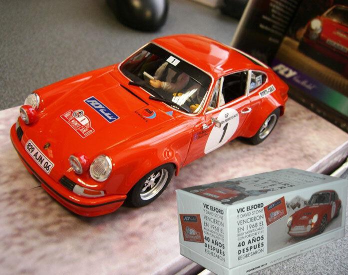 Fly 99115 Porsche 911 Vic Elford Monte Carlo Flyslot 1 32 Slot Car