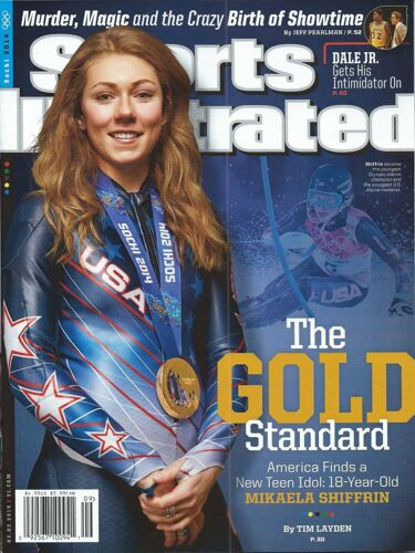 Sports Illustrated 3//3//14 Mikaela Shiffrin GOLD STANDARD Team USA 2014 Sochi Win