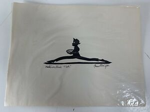 Vintage-Carew-Rice-Silhouette-PRINT-Watermillion-Tief-1966-8-5x11-Charleston