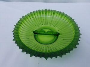 9-034-Vintage-Green-Blenko-Glass-Ashtray-Ribbed-Mid-Century