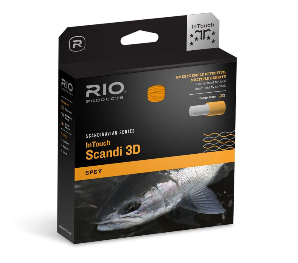 RIO INTOUCH SCANDI 3D  1011 FHI 640 GRAIN SPEY FLY LINE HEAD FOR 10 OR 11 WT