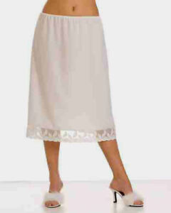 100-COTTON-Underskirt-Waist-Skirt-Half-Slip-gt-2-LENGTHS-AVAILABLE-25-034-amp-35-034-MAXI