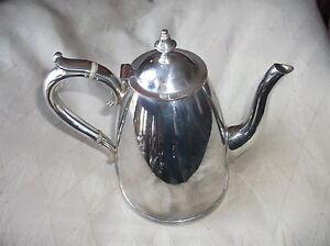 ART DECO SILVER PLATED COFFEE POT BAND HANDLE ELKINGTON & CO 15124