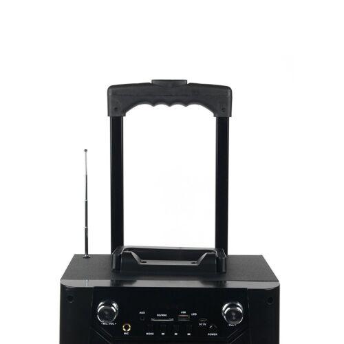 Wireless Bluetooth Portable LED Speaker Karaoke PA System w// Mic Rechargeable