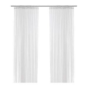 ikea 2x gardinenschal vorhang schlaufenschal gardine wei moskitonetz 280x300 ebay. Black Bedroom Furniture Sets. Home Design Ideas