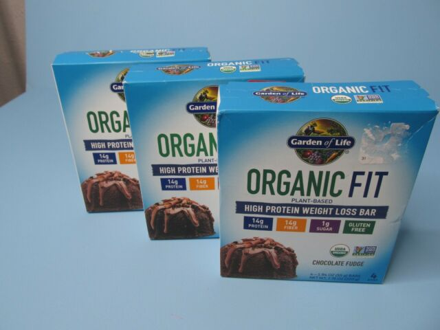 Garden Of Life Organic Fit High Protein Weight Loss Bar Chocolate Fudge 12 For Sale Online Ebay
