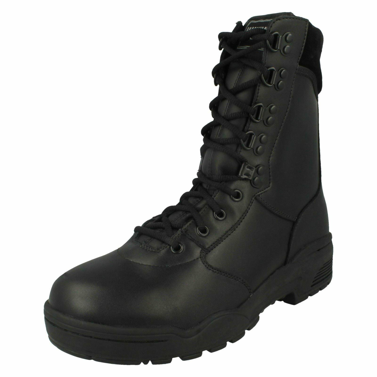 Mens Magnum Leather Cen Combat Style Stiefel