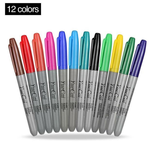 Permanent Markers Eco Friendly Tattoo Pen Sharpie Fine Point 6 Colors Marke Jj