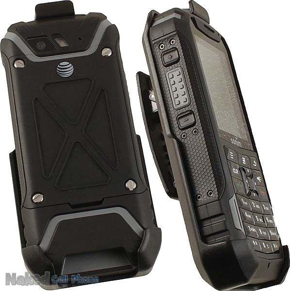 BLACK BELT CLIP HOLSTER CASE STAND FOR SONIM XP5 PHONE (XP5700)
