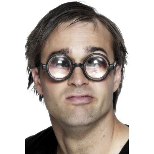 Doofie Nerd Brille Nerdbrille Scherzbrille Idiotenbrille Lupenbrille schwarz
