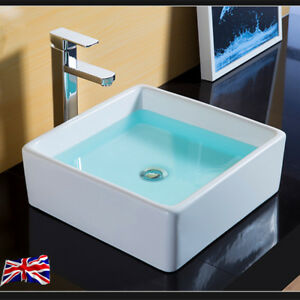 UK New Square Table Top Wash Basin Designs Small Lav Toilet Sinks | eBay