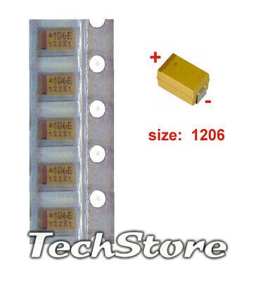 - Condensatori 50 pz Condensatore Tantalio SMD 100 uF 10V 2312 6,0 x 3,2mm
