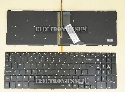 For Acer Aspire VN7-571 VN7-571G VN7-591G Keyboard Spanish Teclado RED Backlit