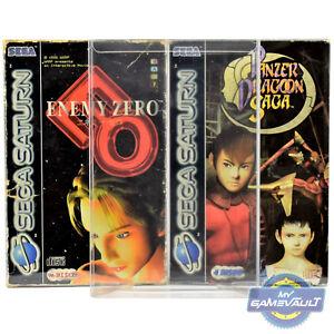 20 X Sega Saturn Game Big Box Protectors Strong 0.5 Mm P.e.t Plastic Display Case-afficher Le Titre D'origine Fwtndsns-07162917-155775523