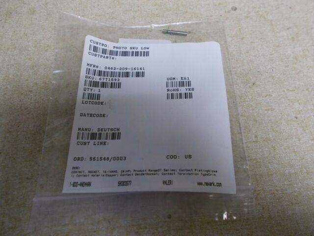 NEW Deutsch 0462-209-16141 Female Terminal Contact *FREE SHIPPING*