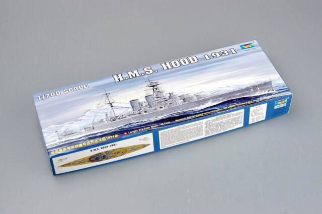 Trumpeter 1/700 05741 HMS Battle Cruiser Hood 1931