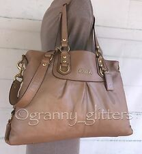 Coach Large Ashley Sand Dune Carryall Shoulder Handbag Tote Bag Purse F15513