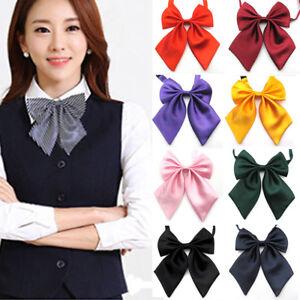 Chic-Fashion-Unique-Womens-Ladies-Girls-Satin-Novelty-BIG-Bow-Tie-Wedding-Gift