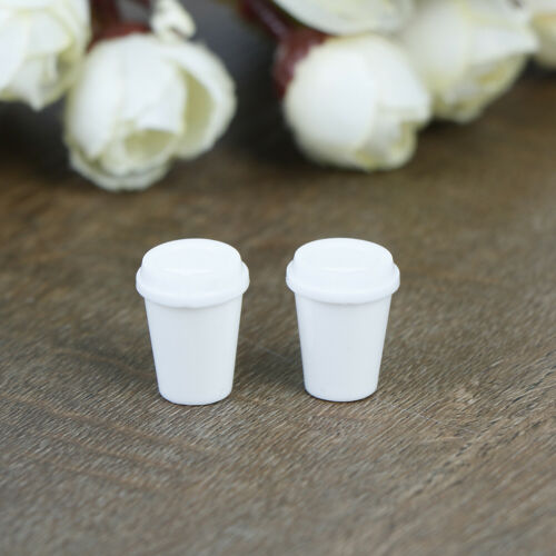 2Pcs 1:12 Dollhouse miniature coffee empty cup model simulation drink cup RKCA