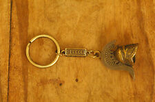 Ancient Greek Themed Keyring - Warrior's Helmet Snake Crest design Gold Zamac