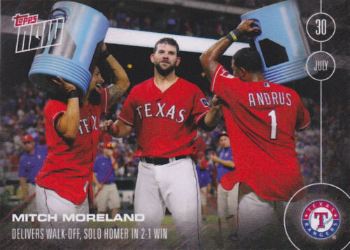 2016 Topps NOW 296 Mitch Moreland Rangers Walk Off Kansas City Royals ONLY 296