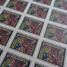 FEUILLE SHEET TIMBRE TABLEAU EGLISE DE TROYES N°1531 x25 1967 NEUF ** LUXE MNH