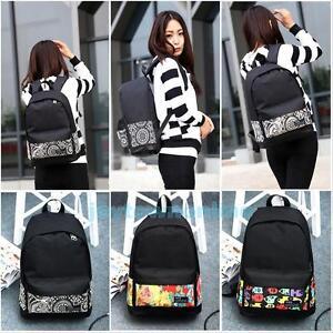 Fasion-Men-039-s-Travel-Canvas-Backpack-Girl-SchoolBag-Rucksack-Women-039-s-Shoulder-Bag