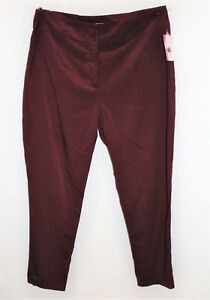 SUPRE-Brand-Burgundy-Fitted-High-Waist-Pants-Size-XL-BNWT-SW120
