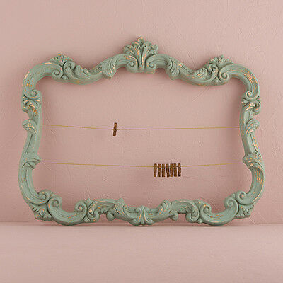 Open Ornate Vintage Inspired Frame in Green Wedding Decoration