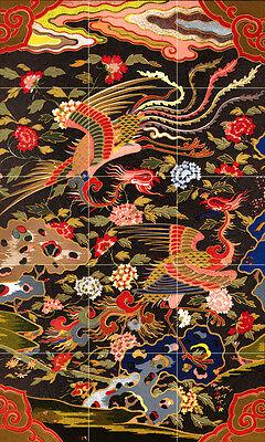 Art Chinese Patterns Flowers Kitchen Mural Ceramic Tiles Home Decor Tile #2507
