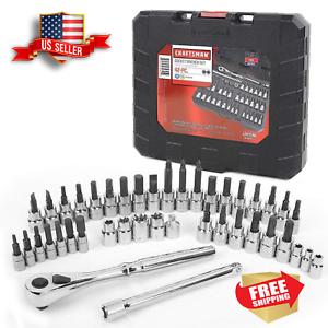 Awesome Craftsman  42 piece 1//4 /& 3//8-inch Drive /& Torx Bit Socket Wrench Set