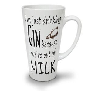Drinking Gin NEW White Tea Coffee Latte Mug 12 17 oz | Wellcoda