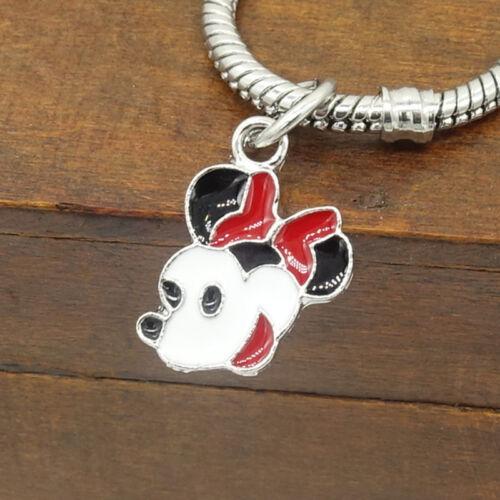 Hot Mouse 1 un europeo encanto granos Fit 925 Collar De Plata Pulsera de cadena Hazlo tú mismo