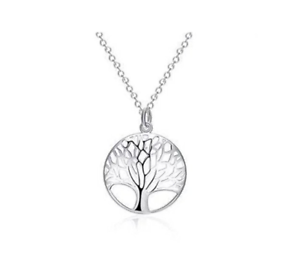925-STAMPED-STERLING-SILVER-TREE-OF-LIFE-PENDANT-NECKLACE-CHAIN-18-034-UK-SELLER