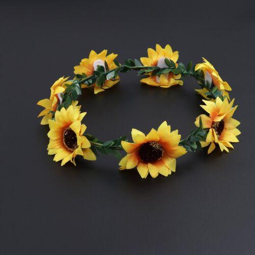 Sunflower Crown Head Band Decorative Headpiece Hair Wreath Festivals Hair Band