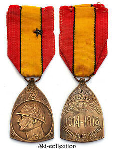 Medalla-Conmemorativa-de-la-Campana-1914-1918-con-1-Etoile-Postal-Belgica