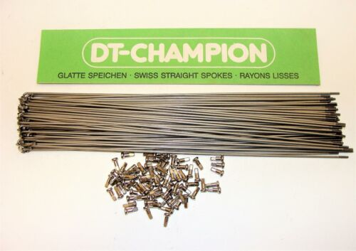 ~ 75 New DT Swiss 294mm Champion Stainless 2.0mm 14 Gauge Spokes /& Nipples ~