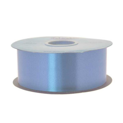 """LARGE COLOUR SELECTION TO CHOOSE FROM 100 yards florist poly ribbon 2/"""" wide"""