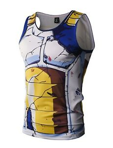 Dragon Ball Vegeta Costume Tank Top Vest cartoon cosplay ...