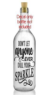 Good Friends Vinyl Decal Wine Bottle Sticker BOTTLE NOT INCLUDED