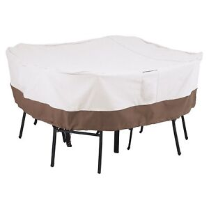 Image Is Loading 66x66x23inchs Veranda Oval Rectangular Patio Table  Amp Chair