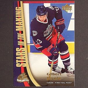 GILBERT-BRULE-RC-2005-06-UD-Stars-In-The-Making-SM11-Columbus-Rookie-single-yg