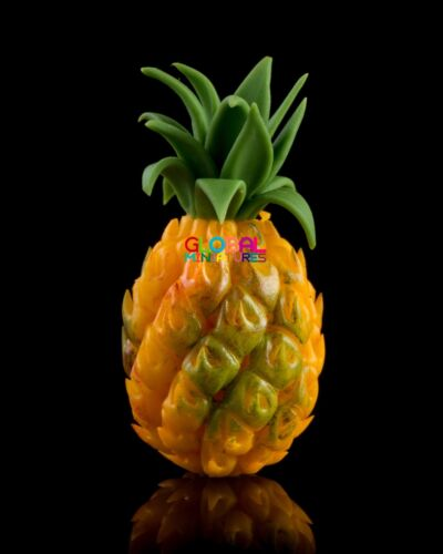 Dollhouse Miniatures Whole Pineapple Tropical Fruit Food Decorating Supply